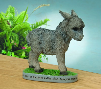 Donkey Figurine, Cast Your Cares on Him   -