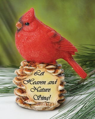 Let Heaven and Nature Sing--Cardinal Figurine   -