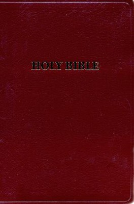 KJV Giant Print Handy Size Bible, Bonded leather, Burgundy   -