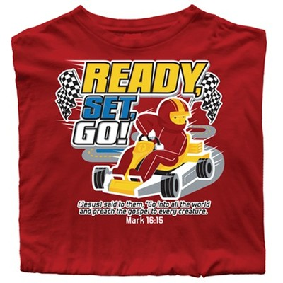 Ready, Set, Go Shirt, Red, Toddler 4  -