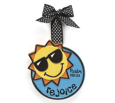 Sunshine Ornament, Rejoice, Large, Psalm 118:24   -
