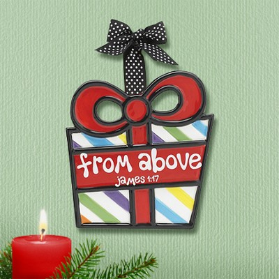 Wrapped Package Ornament, From Above,                                                 -