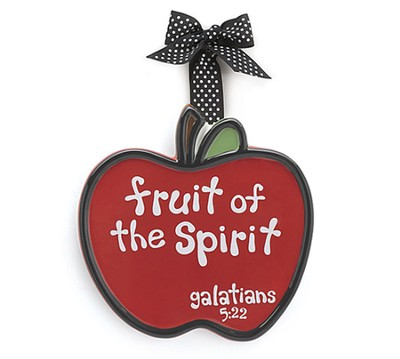 Apple Ornament, Fruit of the Spirit, Large, Galatians 5:22   -