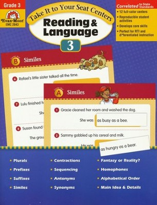 Take It To Your Seat Centers: Reading & Language Grade 3  -