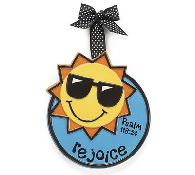Sunshine Ornament, Rejoice, Small, Psalm 118:24   -