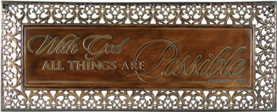With God All Things Are Possible Wall Decor  -