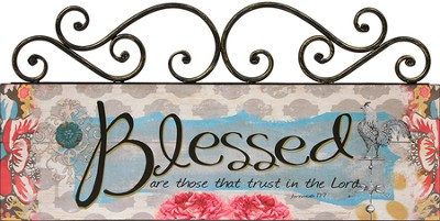 Blessed, Scroll Top Plaque  -