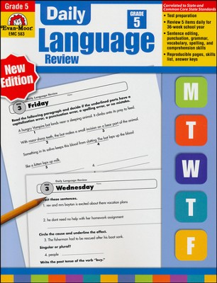 Daily Language Review Grade 5   -     By: Jo Ellen Moore