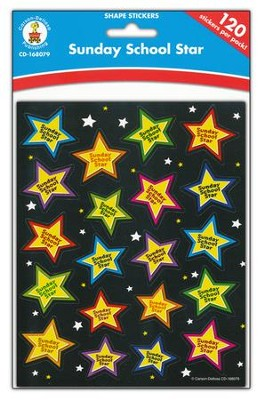 Sunday School Star Shape Stickers   -