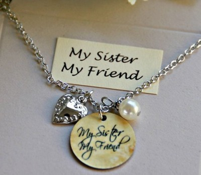 My Sister, My Friend Charm Necklace  -