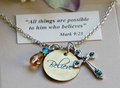 Believe Charm Necklace  -