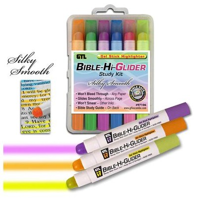 Bible Hi-Glider Markers, set of 6   -