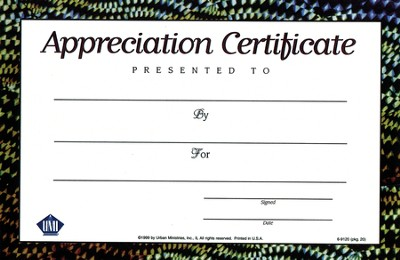Fishin' on a Mission with Jesus: Appreciation Certificate (20 Pack)  -