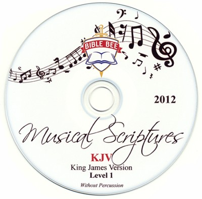 2012 Bible Bee Musical Scriptures Audio CD Set KJV with/out Percussion  -