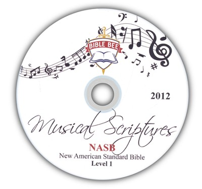 2012 Bible Bee Musical Scriptures Audio CD Set NASB  -