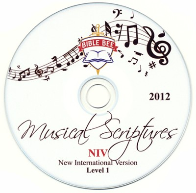 2012 Bible Bee Musical Scriptures Audio CD Set NIV  -