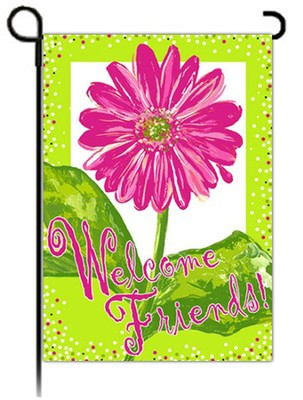Welcome Friends Flag, Small  -     By: Rebecca Harrell