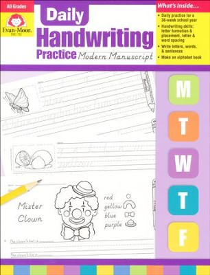 Daily Handwriting Practice: Modern Manuscript   -