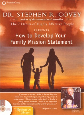 How to Develop Your Family Mission Statement Unabridged Audiobook on CD  -     By: Stephen R. Covey