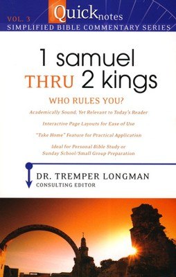 #3: 1st Samuel Thru 2nd Kings - Who Rules You?  -     By: Tremper Longman III