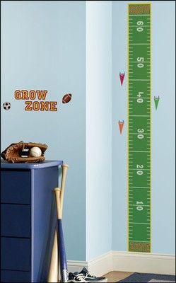 Play Ball Vinyl Wall Growth Chart  -