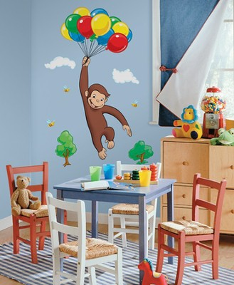 Curious George, Vinyl Wall Stickers, Large  -