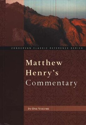 Matthew Henry's One-Volume Commentary  - Slightly Imperfect  -