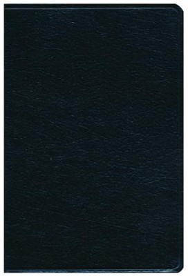 KJV Giant Print Reference Bible, Genuine leather, Black   -