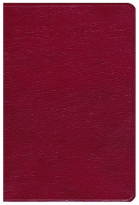 KJV Holman Giant Print Reference Bible,  Burgundy Genuine Leather  -