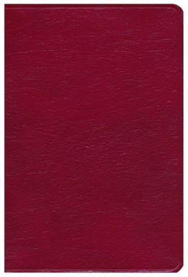 KJV Giant Print Reference Bible, Genuine leather, Burgundy, Thumb-Indexed  -