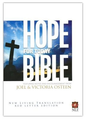 Hope For Today, New Living Translation, Hardcover,  Red Letter Edition, Ribbon Marker  -     By: Joel Osteen