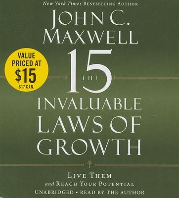 15 Invaluable Laws Of Growth: Live Them and Reach Your Potential, Unabridged Audio, 7 CDs  -     By: John Maxwell