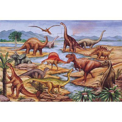 Dinosaurs Floor Puzzle   -     By: Melissa & Doug