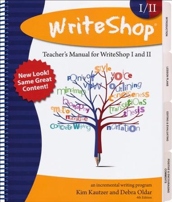 WriteShop Teacher's Manual for WriteShop I & WriteShop II   -