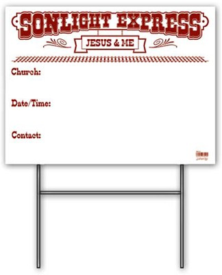 Community Yard Sign with Stand  -