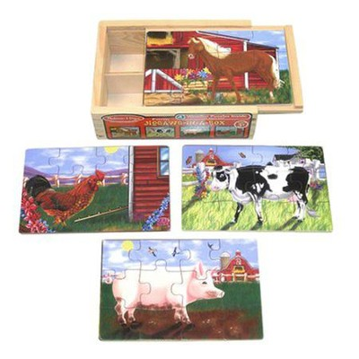 Farm in a Box, Jigsaw Puzzle Set   -     By: Melissa & Doug