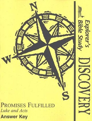 Bible Discovery: Promises Fulfilled, Answer Key   -