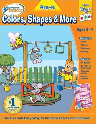 Hooked On Phonics: Pre-K Colors, Shapes & More Premium Workbook  -
