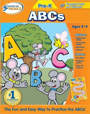 Hooked On Phonics: Pre-K ABCs Workbook   -