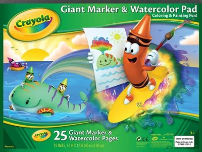 Crayola, Giant Marker and Watercolor Pad  -