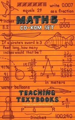 Teaching Textbooks: Math 5 CD-ROM Set (Windows & Macintosh)  -