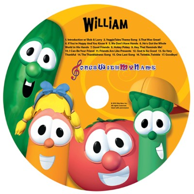 Songs With My Name! VeggieTales Sing-a-Long Songs, Personalized CD   -