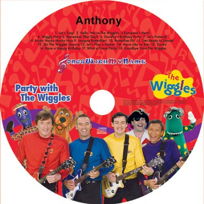 Songs With My Name! Party With the Wiggles Personalized CD   -