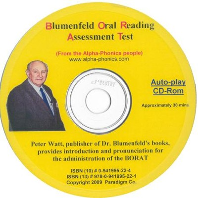 Blumenfeld Oral Reading Assessment Test Pronunciation CD-Rom  -