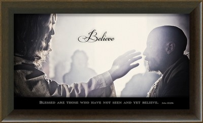 Jesus and Thomas, Blessed Are Those Who Have Not Seen Framed Art  -