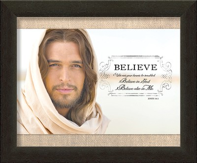 Believe, Come To Me, Jesus Framed Art  -