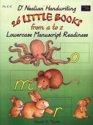 D'Nealian Handwriting: 26 Little Books from A to Z in Lowercase, PreK-K   -     By: Donald Thurber