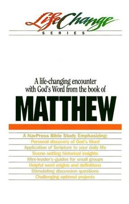 Matthew, LifeChange Bible Study Series  -