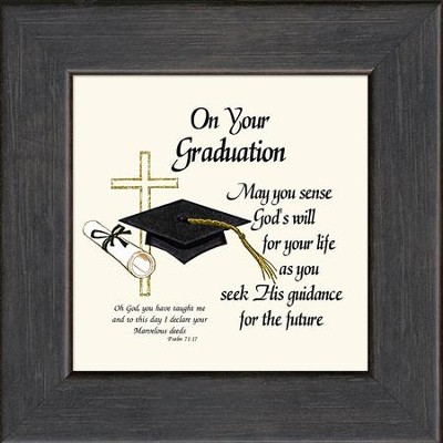 On Your Graduation Framed Print   -