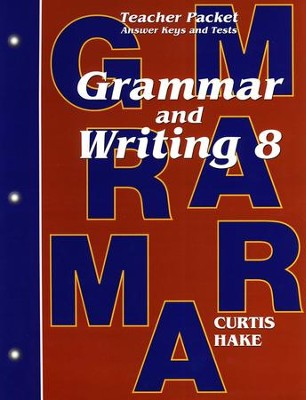 Hake's Grammar & Writing Grade 8 Teacher Packet - Slightly Imperfect  -